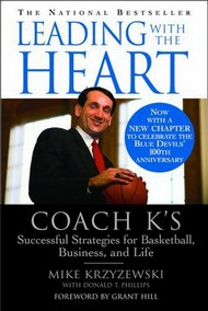 tapa del libro: Leading With The Heart: Coach K
